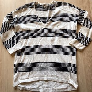 Madewell 3/4 sleeve striped sweater